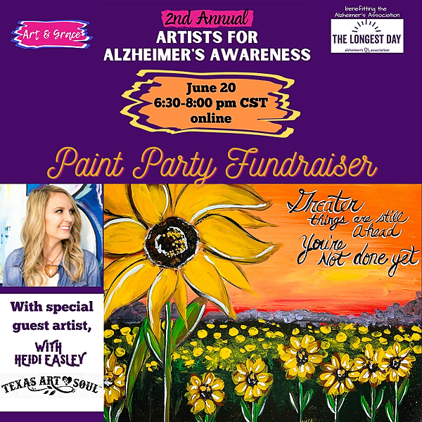 Paint Party for the Alzheimer's Association™️