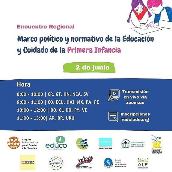 @CuestionesDeInfancias 02, 09 y 16/JUN - Encuentros Regionales por la Educación y Cuidado de la Primera Infancia Link Thumbnail | Linktree