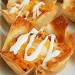 BBQ Chicken Bacon and Ranch Wonton Cups Recipe
