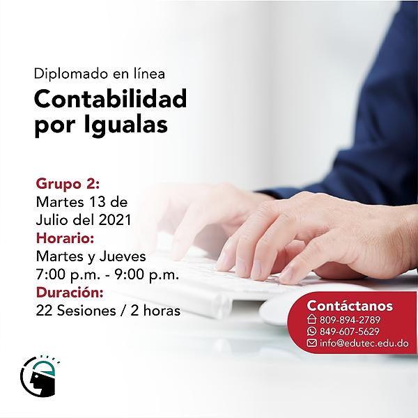 DIPLOMADO CONTABILIDAD POR IGUALAS - Martes 13 Julio