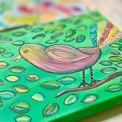 Art & Grace Free: Colorful Bird Tracer Link Thumbnail   Linktree