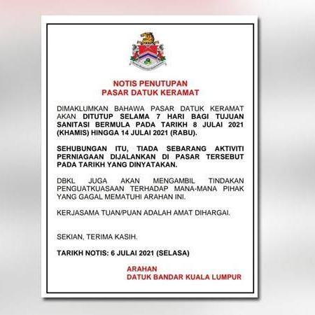 @sinar.harian Covid-19: Pasar Datuk Keramat ditutup 7 hari  Link Thumbnail | Linktree