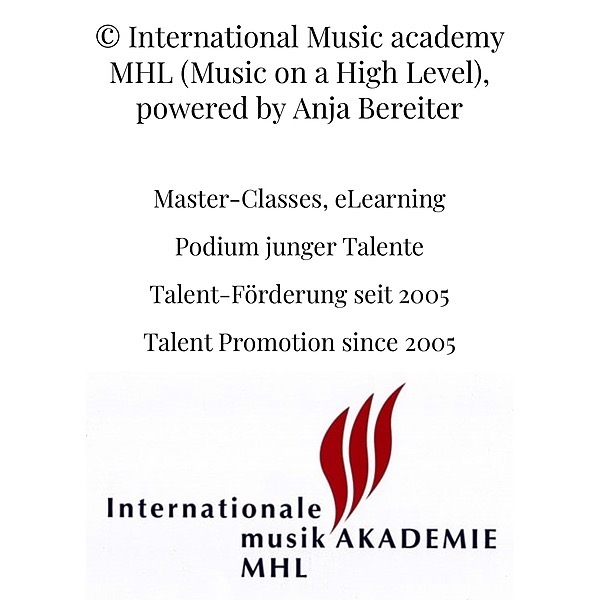 @anjabereiter Study with me at the Int. Music Academy MHL. Apply now. Price: 30 Min CHF 45.00; 45 Min CHF 60.00 Link Thumbnail   Linktree