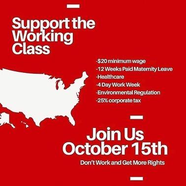 @TiffDidAnArt NATIONAL GENERAL STRIKE   October 15, 2021 Link Thumbnail   Linktree