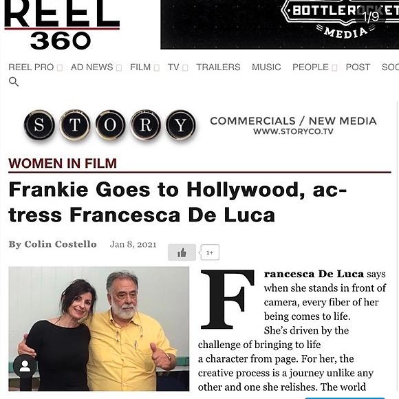 @FrancescaDeLuca Reel 360. Women in Film Interview. 2021 Frankie Goes to Hollywood. Link Thumbnail   Linktree