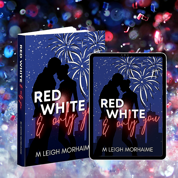 M Leigh Morhaime RED, WHITE, and ONLY YOU, a Rom-Com Holiday Novella Link Thumbnail | Linktree