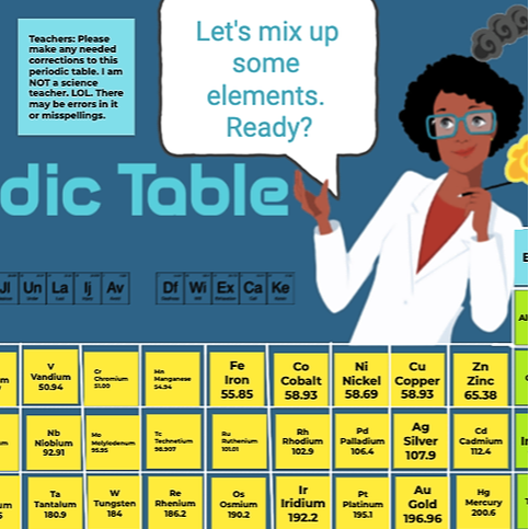 @GiftedTawk Periodic Table Heroes  *With Art by Kaycie Dunlap Link Thumbnail | Linktree