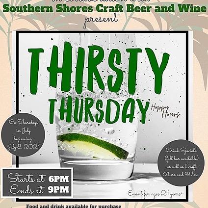 RSVP for Thirsty Thursdays!