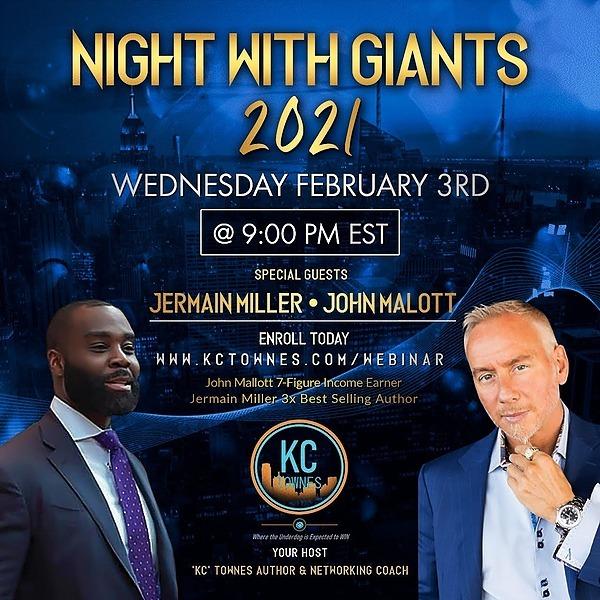 @JermainMiller Night With Giants Link Thumbnail   Linktree