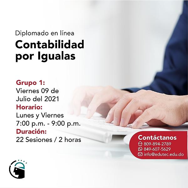 DIPLOMADO CONTABILIDAD POR IGUALAS - Viernes 09 Julio