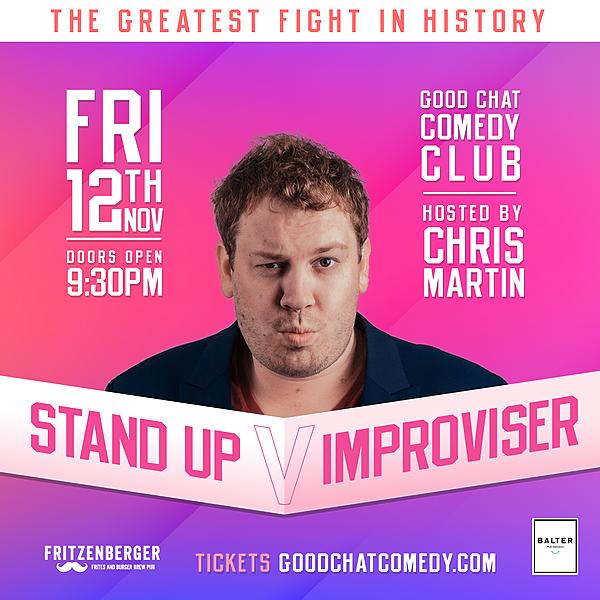 @goodchatcomedy Get tickets to Stand-Up vs Improviser [Nov 12] Link Thumbnail   Linktree