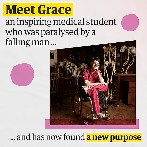 @guardian Grace Spence Green: the medical student who was paralysed by a falling man – and found new purpose Link Thumbnail | Linktree