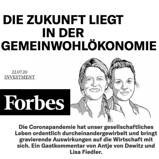 Forbes: Die Zukunft liegt in der Gemeinwohl-Ökonomie