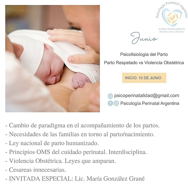 "@Psicologiaperinatalargentina Curso JUNIO: ""PSICOFISIOLOGIA DEL PARTO"" Link Thumbnail   Linktree"