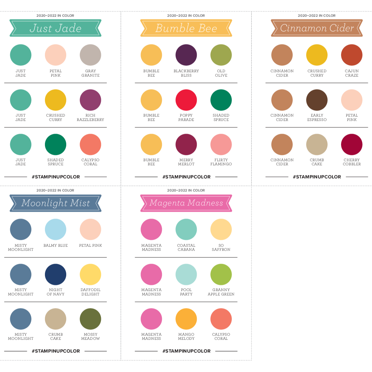 SHOP FOR THE #INCOLOR 2020-2022 SWATCHES