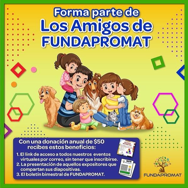 @jshakall ¡Forma Parte de los Amigos de FUNDAPROMAT con tu Donación de $50 Anuales! Link Thumbnail | Linktree