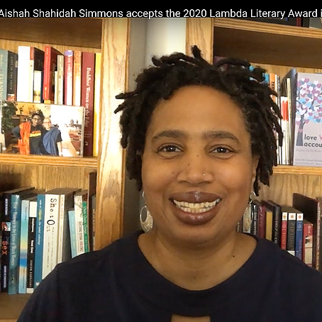 @afrolez 2020 Lambda Literary Award Acceptance Speech for Love WITH Accountability Link Thumbnail | Linktree