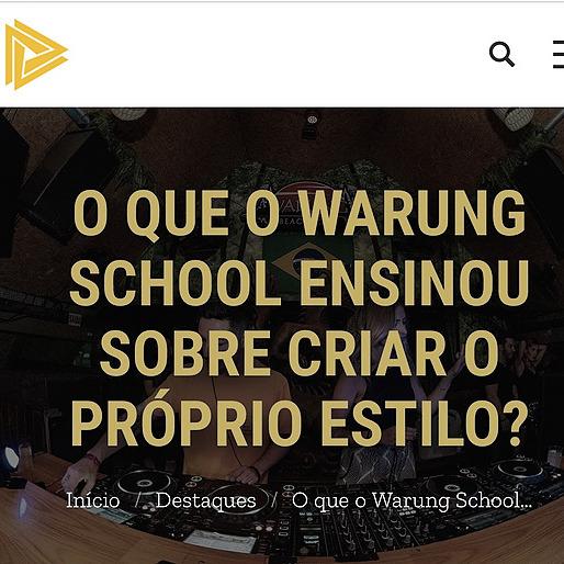 PLAY BPM | O QUE O WARUNG SCHOOL ENSINOU SOBRE CRIAR O PRÓPRIO ESTILO?