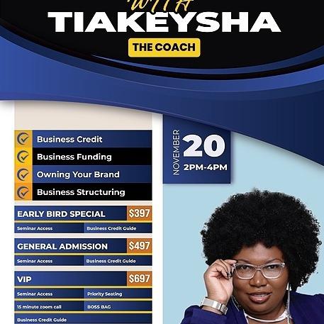 @Tiakeysha Business Credit Event Nov 20th 2pm-4pm est Link Thumbnail | Linktree