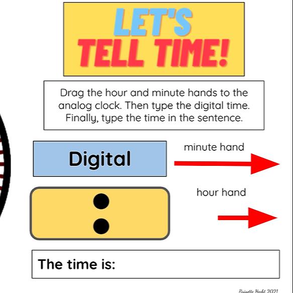 Telling Time Digital Worksheet