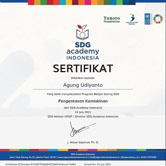 PKBM Bakti Nusa Sekolah Gratis SDG Certificate Link Thumbnail | Linktree