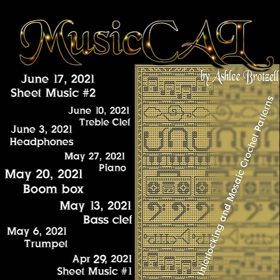 Ashlee Brotzell Designs MusicCAL Free Crochet-A-Long  Link Thumbnail | Linktree