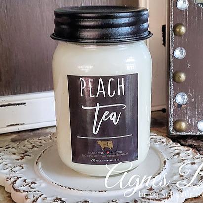 Agnes Belle Peach tea candle Link Thumbnail | Linktree