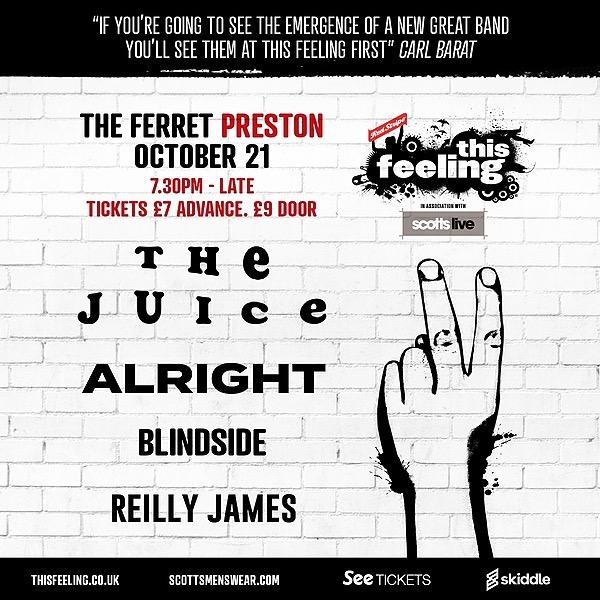 @Thejuicemusic Preston This Feeling Gig Tickets Link Thumbnail | Linktree