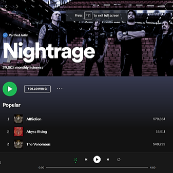 Nightrage on Spotify