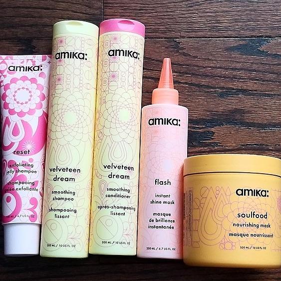 Kris Jess Shop my Favorite hair care Line AMIKA Link Thumbnail | Linktree