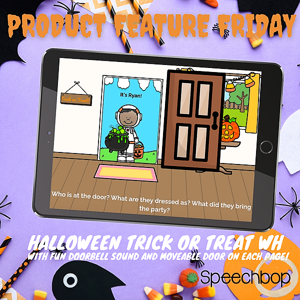Product Feature Friday - Halloween Trick or Treat WH Questions