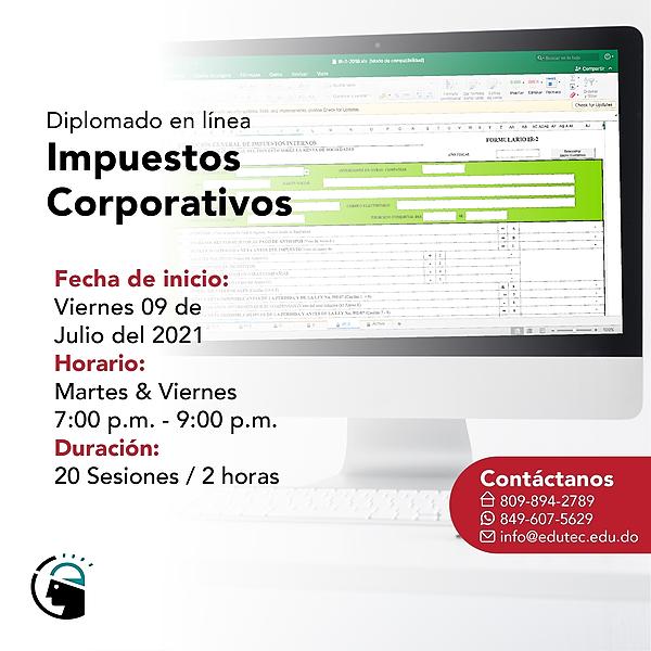 DIPLOMADO IMPUESTOS CORPORATIVOS - Viernes 09 Julio