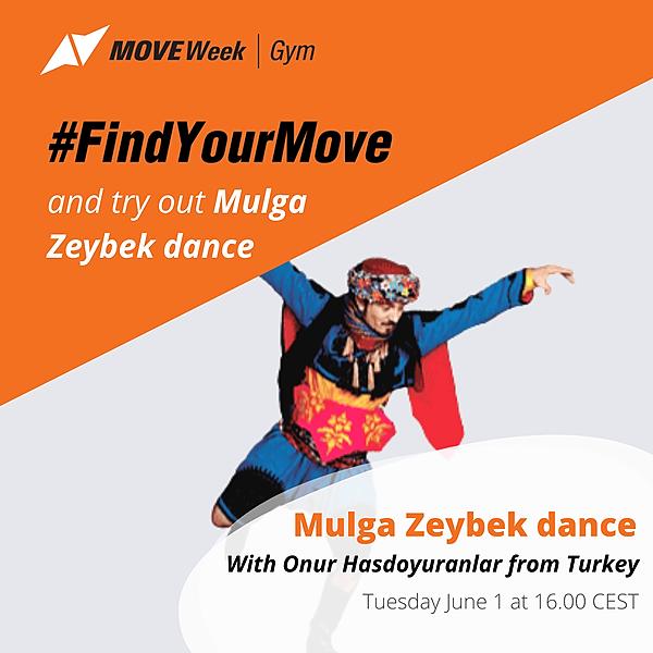 Tue, 16.00 CEST - Mugla Zeybek Dance with Mr Yurdal Düzgüner and Ms Aylin Ölçüm