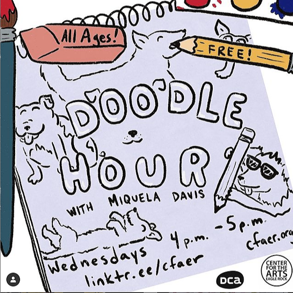 Doodle Hour with Miquela Davis 4:00pm Wednesdays