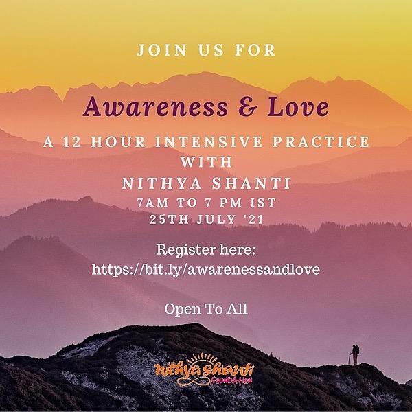 Nithya Shanti Register: 12 Hour Intensive on 25th July Link Thumbnail | Linktree