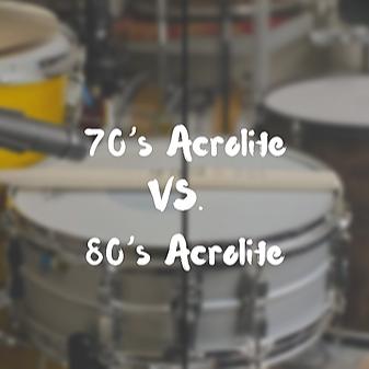 Nate Testa - The Drumsultant 70's Acrolite VS. 80's Acrolite - Full Comparison  Link Thumbnail | Linktree