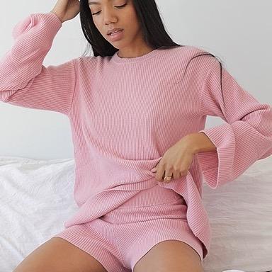 Amazon pink knit sweater
