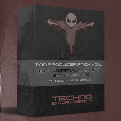 Roentgen Limiter 🎹 TIOD Producer Pack Vol.1 By Roentgen Limiter 6 Powerful Techno Sample Kits  Link Thumbnail | Linktree
