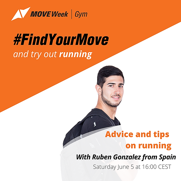 Sat, 16.00 CEST - Advice and tips on running with Ruben Gonzalez