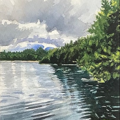 watercolor paintings & prints A Painting A Day BLOG Link Thumbnail | Linktree