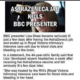 @VaccineChoiceCA BBC PRESENTER DIES FROM INJECTION Link Thumbnail | Linktree