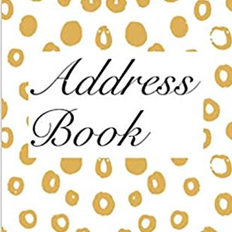 Address Book: Gold Circles