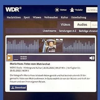@mariahaas Radio WDR5 Interview Maria Haas - MATRIARCHINNEN Link Thumbnail | Linktree