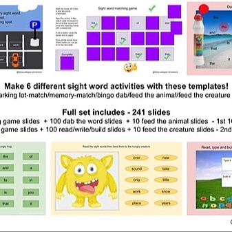 "@RebeccaAllgeier ""Sight Words (Fry - 1st 200) - Sample"" Link Thumbnail | Linktree"
