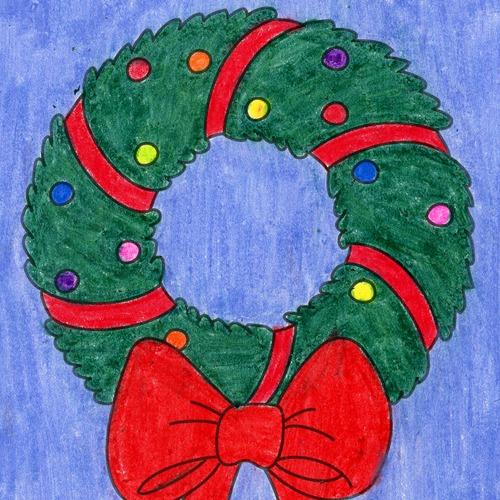 @artprojectsforkids Draw a Christmas Wreath Link Thumbnail   Linktree