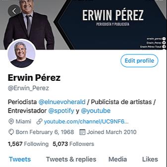 @erwinperez Twitter Erwin Link Thumbnail | Linktree
