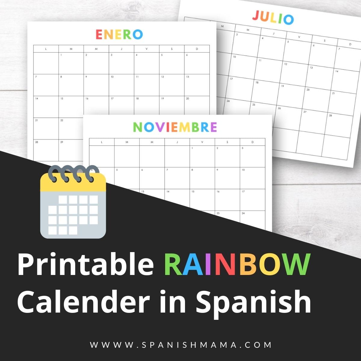 Rainbow Decor & Calendar Kit