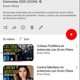 @erwinperez YouTube Entrevistas Erwin Link Thumbnail | Linktree