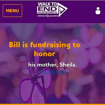 @CohenSupport 💜 Donate to Team Sheila—Walk to End Alzheimer's  Link Thumbnail | Linktree