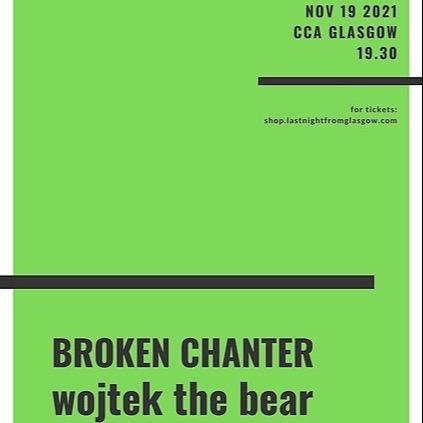 @wojtekthebear Tickets for CCA Glasgow on 19th November Link Thumbnail | Linktree